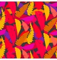 Grunge autumn pattern with fern leafs vector image vector image