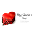 Holiday vintage Valentines day background Red rose vector image vector image