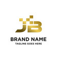 initial logo jb vector image vector image