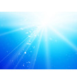 light rays and dust blue sky background vector image vector image