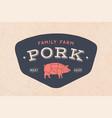 logo of butcher meat shop vector image vector image