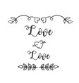 love love heart arrow grass background imag vector image vector image