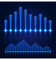 Luminous Equalizer on Dark Background vector image vector image