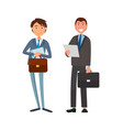 male office workers suits cartoon character vector image vector image