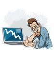 man failed in business vector image vector image