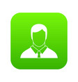 manager icon digital green vector image
