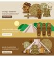 Maya Banner Set vector image vector image