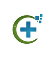 medical logo design health care logo pharmacy vector image vector image