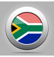 metal button with flag - South Africa vector image vector image