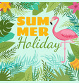 modern summer background with flamingo and vector image vector image