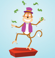 Monkey juggling money vector image vector image