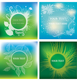 natural frames backgrounds vector image vector image