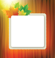 officel board with maple leaves vector image vector image