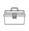 outline fishing tackle box vector image vector image