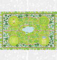 park plan vector image vector image