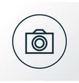 photo icon line symbol premium quality isolated vector image vector image