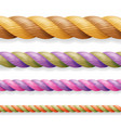 realistic rope different color thickness vector image vector image