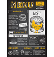 Restaurant cafe menu template design vector image vector image