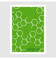 Science Brochure Flyer design template vector image vector image