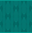 seamless stylized leaf background leaves vector image