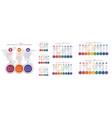 set 8 templates modern colorful diagram vector image