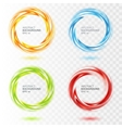 Set of abstract swirl circle on transparent vector image vector image