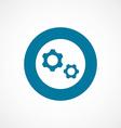 Settings bold blue border circle icon vector image vector image