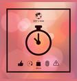 stopwatch icon symbol vector image vector image