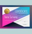 stylish vibrant certificate appreciation