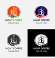tea and coffee logo template vector image