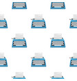 typewriter icon in cartoon style isolated on white vector image vector image