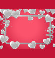 valentines background with white hearts balloons vector image
