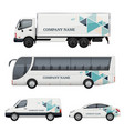 vehicle branding transportation advertizing bus vector image vector image