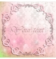 Vintage frame on pink background vector image vector image