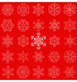 vintage snowflake set in zentangle style 25 vector image vector image