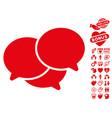 webinar icon with valentine bonus vector image vector image