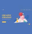 winning businessman for web design vector image vector image