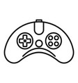 wireless gamepad icon outline style vector image vector image