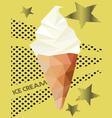 ice cream low polygon style vector image