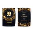 90th years birthday black paper luxury
