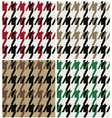 abstract wool houndstooth fabric vector image vector image