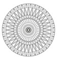 ancient mandala coloring page for adults on vector image vector image