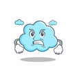 angry cute cloud character cartoon vector image