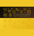 apiarist colored horizontal vector image vector image