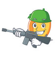 army apricot character cartoon style