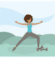 athletic woman training exercise activity vector image