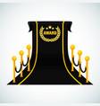 black award carpet poster template vector image