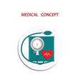 blood pressure monitor - icon round - flat style vector image