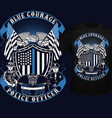 blue courage vector image vector image
