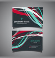 business card template with flowing lines design vector image vector image